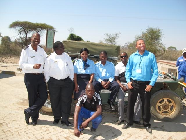Victor and the whole of the Kasane Customs Team Zambezi River Botswana