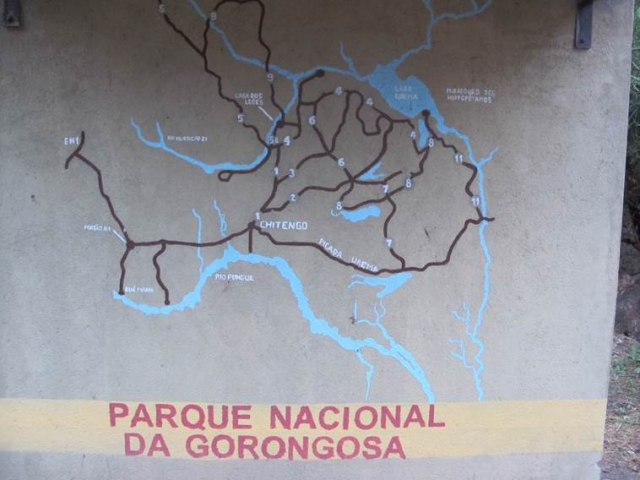 Gorongosa Park entrance