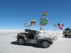 Flags and Victor at the Enterance of the Salar de uyuni 2